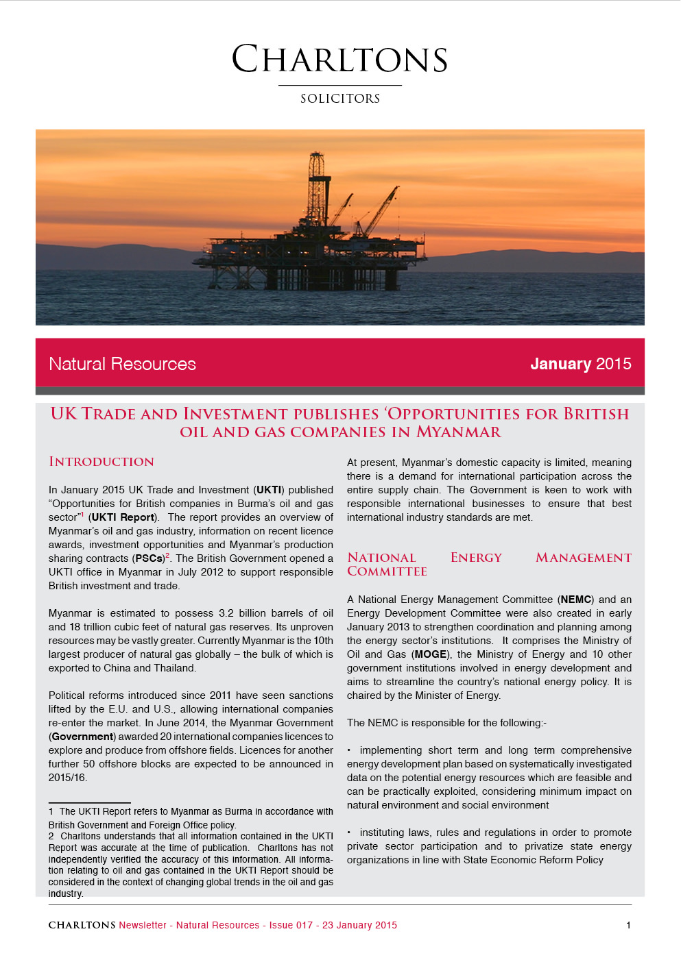 Charltons-Natural-Resources-Newsletters-UK-Trade-and-Investment-publishes-opportunities-for-British-oil-and-gas-companies-in-Myanmar