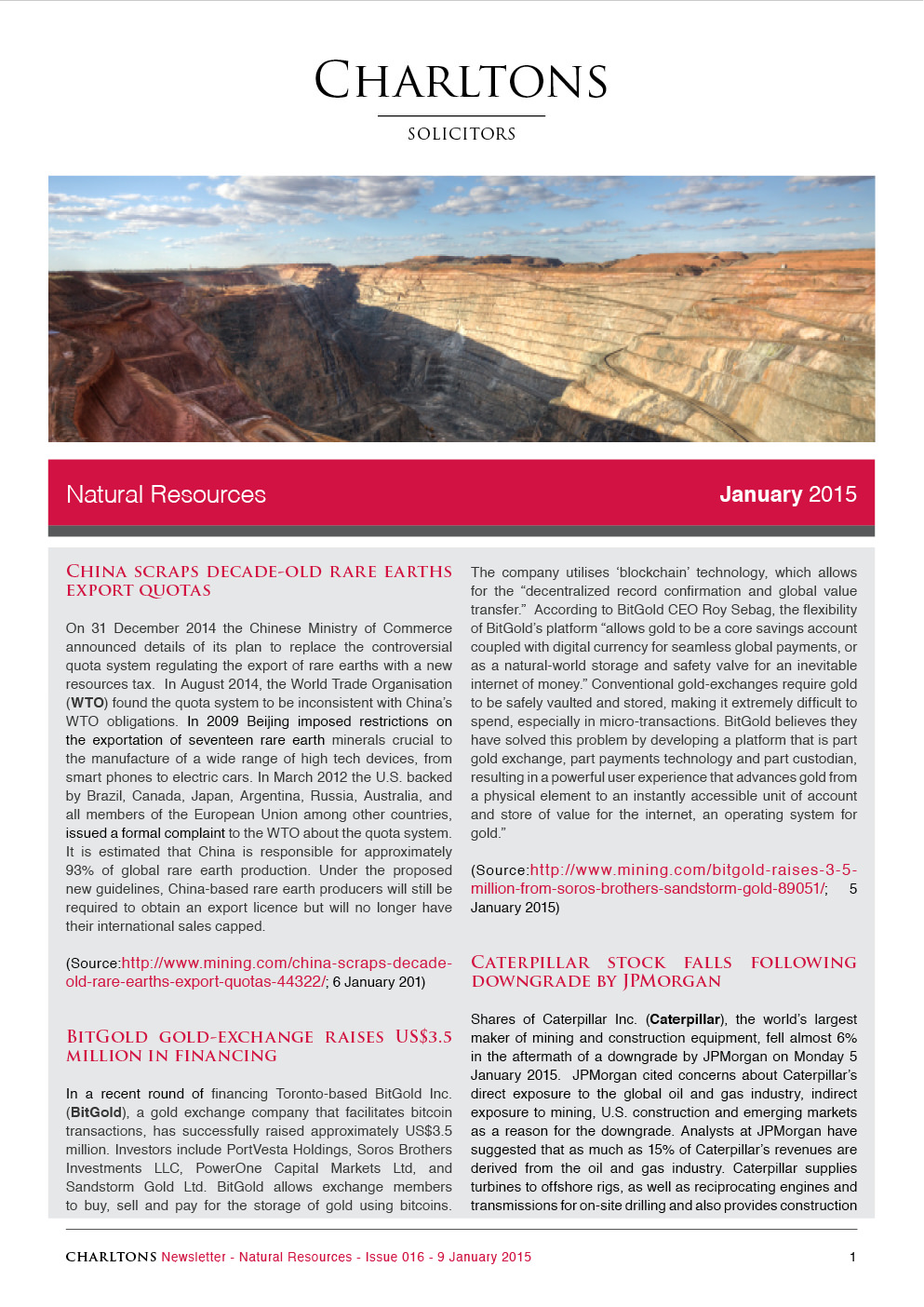 Charltons Natural-Resources-Newsletter China-scraps-decade-old-rare-earths-exports-quotas-2015.01.09-16-1